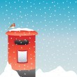Post box in the snow — Stock Vector #3902197