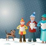 Christmas carols — Stock Vector