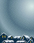 Snowy rooftops — Stock Vector