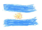 Argentine flag — Stock Photo