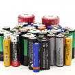 Old batteries - Stock Photo