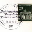 Stock Photo: Brandenburger tor special postmark