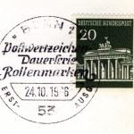 Brandenburger tor special postmark — Stock Photo