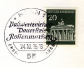 Brandenburger tor special postmark — Stock Photo