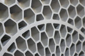 Aluminum wafer background — Stock Photo