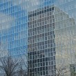 Glass buildings with trees — Stock Photo #2687090