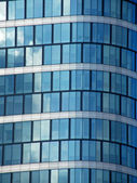 Sky in a glass building — Stock Photo