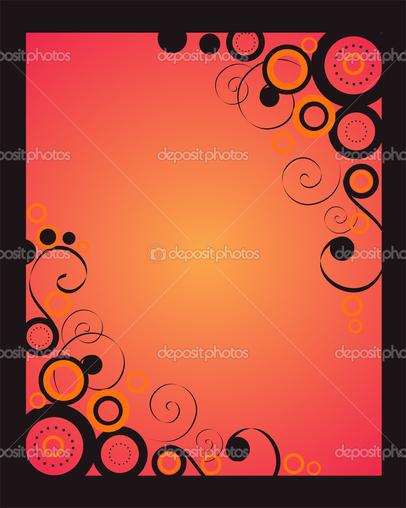 Vector illustration of circles and spirals on a pink background — Stock Vector #2727349