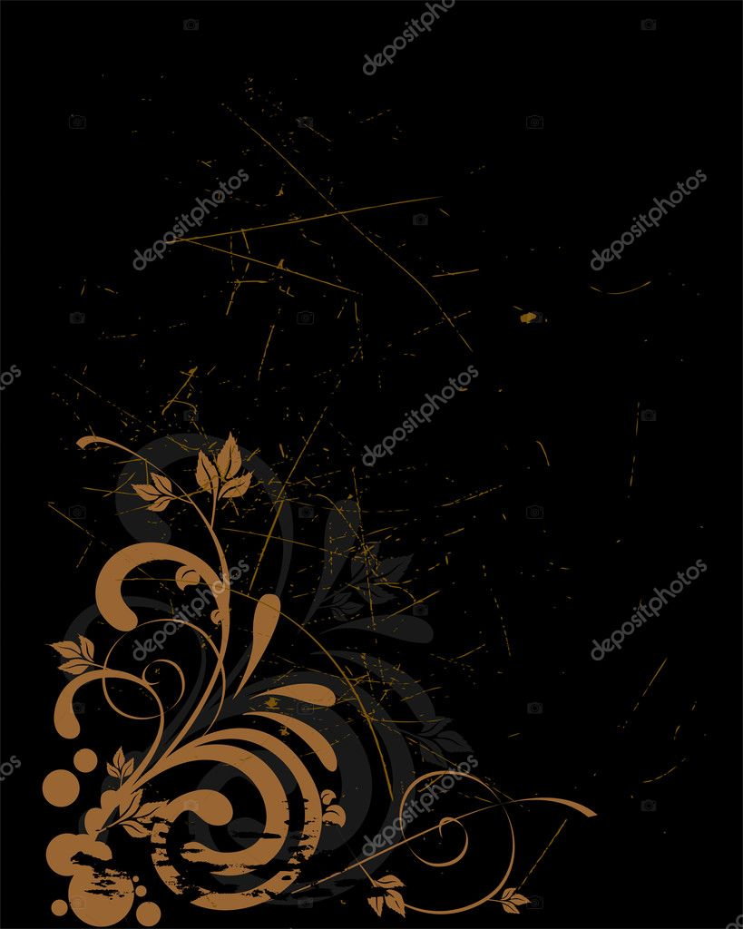 Vector illustration of an abstract floral background — Stock Vector #2729069