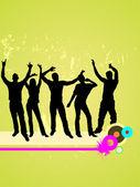 Happy dancing — Stock Vector