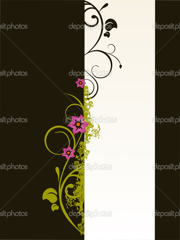 Vector illustration of an abstract floral background — Stock Vector #2778522
