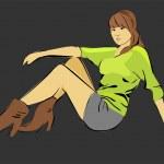 Pretty woman — Stock Vector #2830242