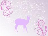 Winterszene - weihnachtskarte — Stockvektor