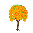Tree_autumn — Stock Vector
