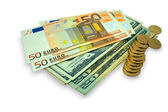 Dollars euros — Stock Photo