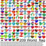 World_flag — Stock Vector