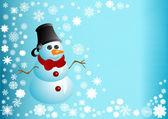 Ilustração do boneco de neve — Vetor de Stock