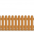 Vector illustration of a wooden brown fence — Stock Vector #3587791