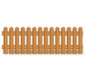 Vector illustration of a wooden brown fence — Stock Vector