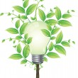 Royalty-Free Stock Imagen vectorial: Eco energy tree vector concept