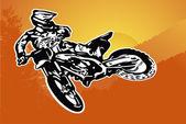 Motosiklet vektör — Stok Vektör