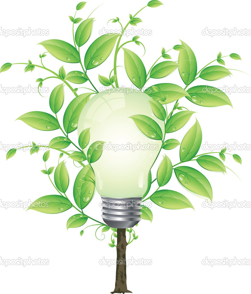 Eco energy tree vector concept for poster or card  Stock Vector #2757869