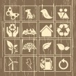 Eco pictogram teken ingesteld vector — Stockvector