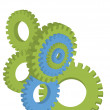 Cogwheels and gear vector — Stock Vector