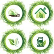 Royalty-Free Stock Vector Image: Ecology web push button icons vector