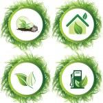 Ecology web push button icons vector — Stock Vector