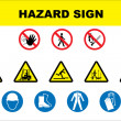 Safety and danger icon set - Stockvektor