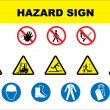 Safety and danger icon set — Stockvectorbeeld