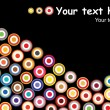 Colorful retro circles background - Image vectorielle