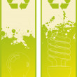 Eco energy banner vector set of two — Stock Vector