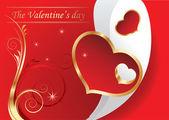 Card door dag van de valentijnskaart vector — Stockvector