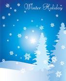 зимний праздник абстрактный фон — Cтоковый вектор