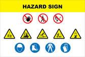Jeu d'icônes de sécurité et de danger — Vecteur