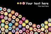 Colorful retro circles background — Vettoriale Stock