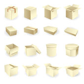 Blank boxes. Box package vector — Stockvector