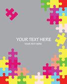 Puzzle coloré fond vecteur — Vecteur