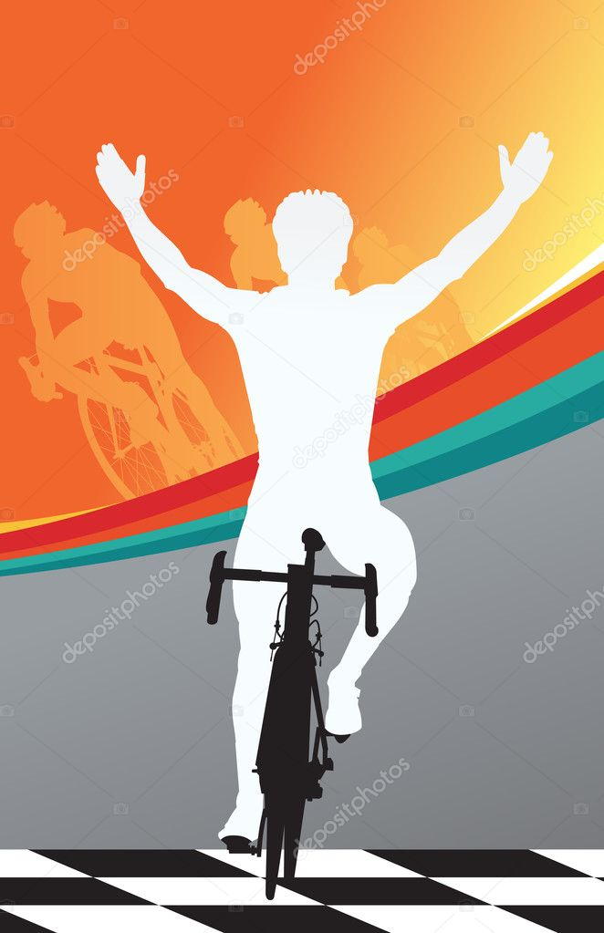 Sport bicycle vector Tour De France winner — Stock Vector #2821408