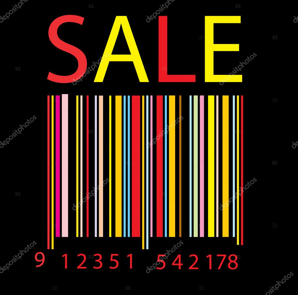 Colorful Bar code vector background for poster or card — Stok Vektör #2821495