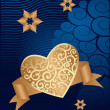Heart ornament background vector — Stock vektor
