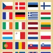 Royalty-Free Stock Vector Image: Vector Flags set of Europe union stamps