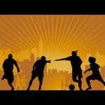 Football, soccer, goal, vector — Stock Vector