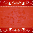 Red hearts background vector - Stock Vector