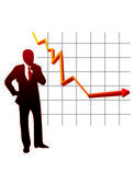 Stability chart vector an businessman — Stockvektor