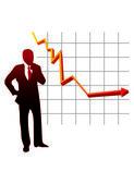 安定性グラフのベクトル、実業家 — ストックベクタ