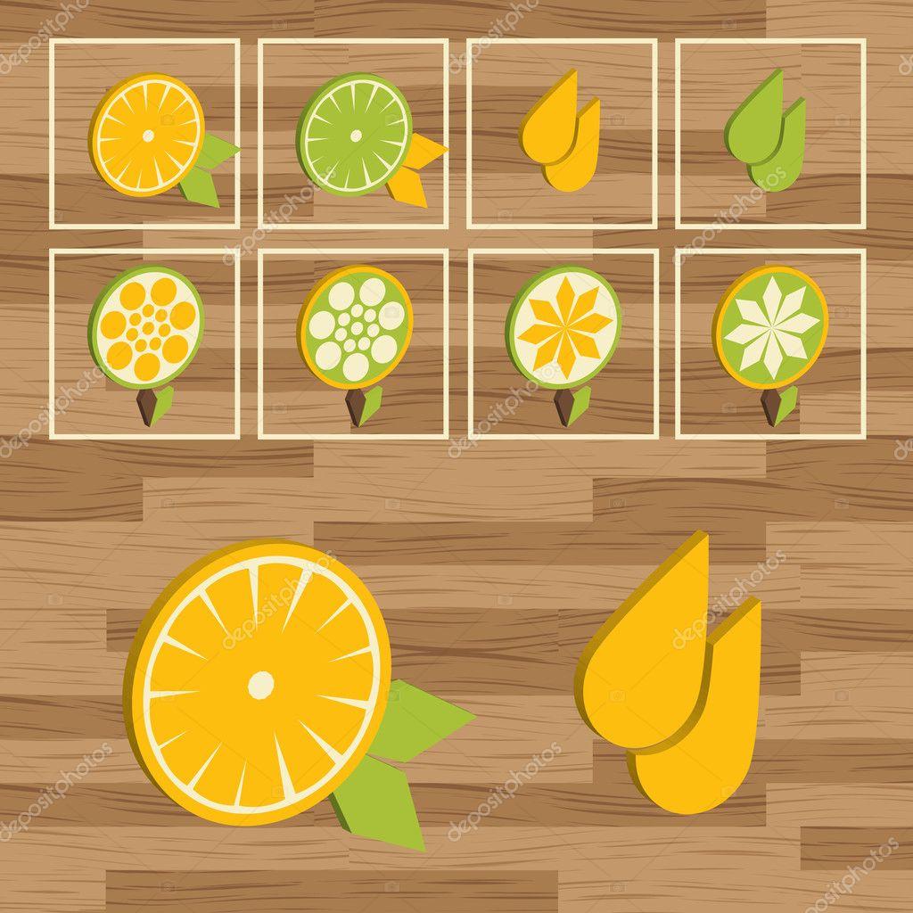 Lemon button set vector stock vector krabata 2886240 for Lemon button