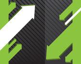 Green arrow vector background — Stock Vector